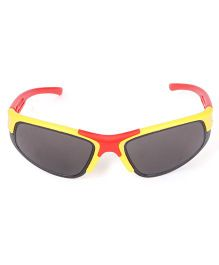 Kids Sports Sunglasses - Yellow Red