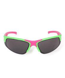 Kids Sports Sunglasses - Pink Green