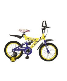 Avon Rowdy Bicycle With Trainer Wheels 16T - Yellow & Purple
