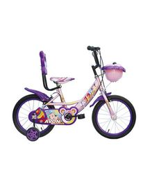Avon Teddy Bicycle With Trainer Wheels 16T - Purple