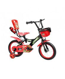 Avon Kiwi Bicycle With Trainer Wheels And Water Bottle 14T - Red