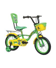 Avon Turtle Bicycle With Trainer Wheels 14T - Green & Yellow