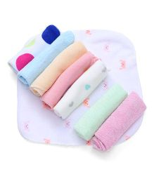 Babyhug Multi Print Wash Clothes Set of 8 - Multi Color