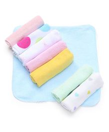Babyhug Printed Wash Clothes Pack of 8 - Multi Color