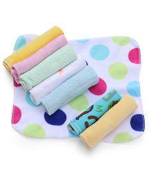 Babyhug Printed Wash Clothes Set of 8 - Multi Color