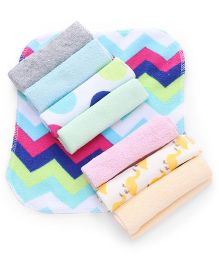 Babyhug Wash Clothes Set of 8 - Multi Color