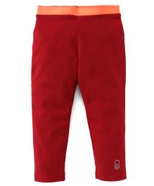 UCB Leggings With Contrast Waistband - Red