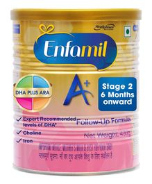 Enfamil A With DHA Stage 2 Follow Up Formula - 400 gm