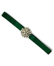 Little Miss Cuttie Elegant Diamond & Pearl Headband - Green