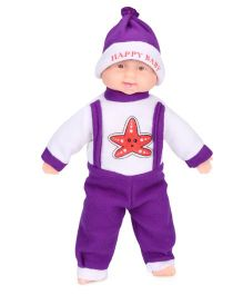 Kids Zone Laughing Doll Star Design - Purple White