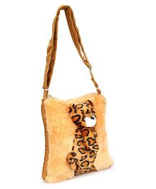 IR Fur Sling Bag Tiger Theme - Brown