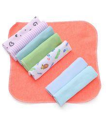 Babyhug Wash Clothes Set of 8 - Multi Color