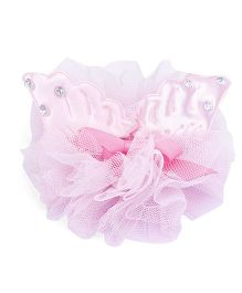 Anaira Pretty Puffy Alligator Clip - Pink