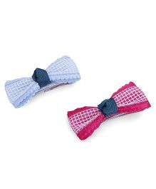 Anaira Pretty Pack Of Bows Clips - Pink N Blue
