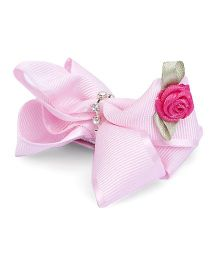 Anaira Floral Bow Clipper - Pink