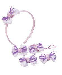 Anaira My Doll Hairband Hair Clip And Hair Rubber Band Set - Lavender