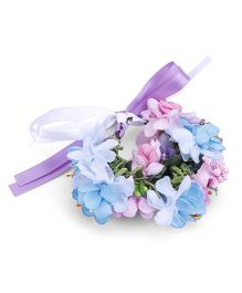 Anaira Floral Bracelet - Pink And Blue