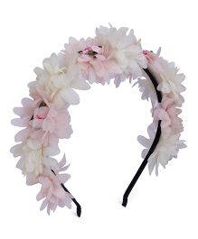 Anaira Pretty Floral Hairband- White And Pink