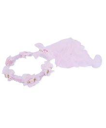 Anaira Princess Floral Tiara Veil - Pink