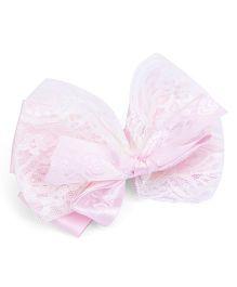 Anaira Satin Bow Clip - Pink