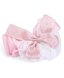 Anaira Satin Bow Rose Clip - Pink