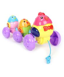 Pull Along Musical Toy Hens - Multicolor