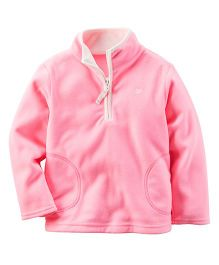 Carter's Full Sleeves Sweat Jacket - Pink