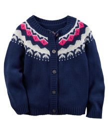 Carter's Fair Isle Cardigan - Navy Blue
