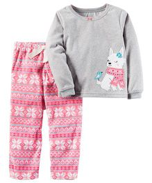 Carter's 2-Piece Fleece PJs - Grey Pink