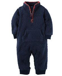 Carter's Sherpa Jumpsuit - Navy Blue