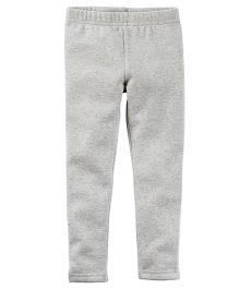 Carter's Metallic Fleece Lined Leggings - Grey