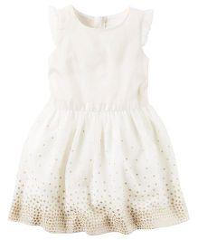 Carter's Sparkle Dress - Ivory White