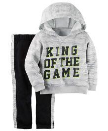 Carter's 2-Piece Sweatshirt & Sweatpant Set - Grey Black