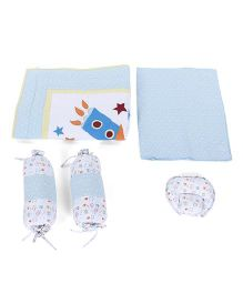 Babyoye 5 Piece Bedding Set Rising Star Theme Embroidery - Blue