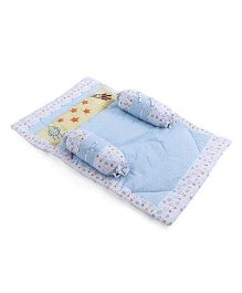 Babyoye Gadda Set Star And Rocket Print - Light Blue