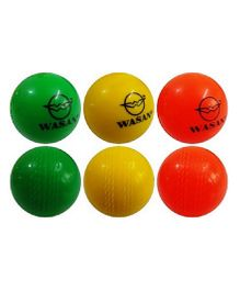 Wasan Wind Circket Ball Pack Of 3 - Green Red Yellow