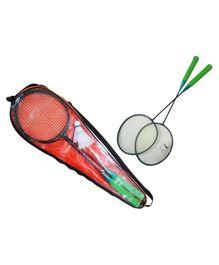 Wasan Spike G2 Badminton Racket Set - Black Blue Grey