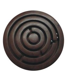Wasan Chopra Wooden Ball Maze Game - Dark Brown