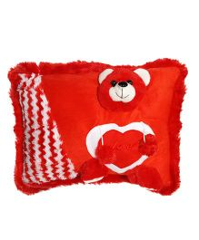 Ultra Pillow Teddy Face Design - Red