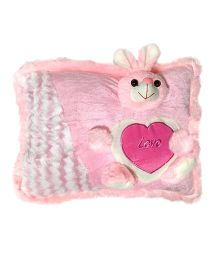 Ultra Pillow Bunny Face Design - Pink