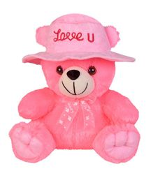 Ultra Teddy Bear With Cap Pink - 23 cm