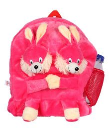 Ultra Twins Bunny School Bag Pink - 14 Inches