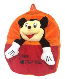 Ultra Smiley Mouse School Bag Orange - 14 Inches