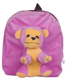 Ultra Animal Monkey School Bag Purple - 12 Inches