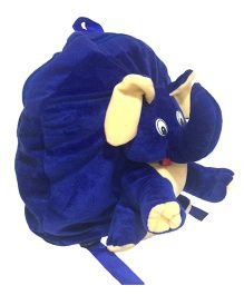 Ultra Animal Elephant School Bag Blue - 12 Inches
