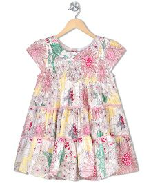 Budding Bees Girls Floral Dress - Pink Floral