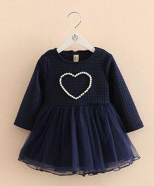 Pre Order - Mauve Collection Pearl Embellished Dress - Blue
