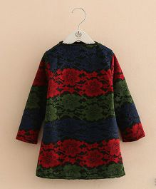 Pre Order - Mauve Collection Cute Lace Dress With Inner Fleece - Multicolour