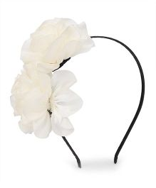 Party Princess Hairband With Flower - Off White