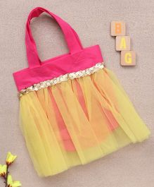 Party Princess Tutu Bag - Pink & Yellow
